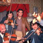 Romani Musicians visit Jimmy and Jane Marks in Spokane, 1974.